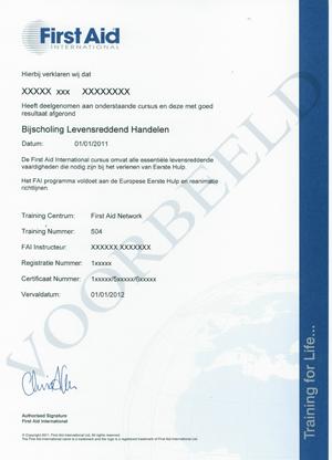 EHBO-certificaat