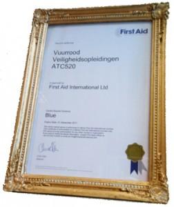 First Aid International certificaat trainingscentra v3 300